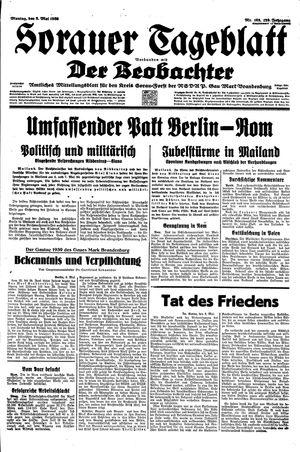 Sorauer Tageblatt vom 08.05.1939