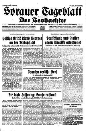 Sorauer Tageblatt vom 09.05.1939