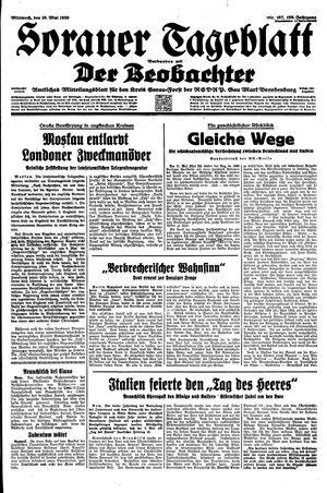 Sorauer Tageblatt vom 10.05.1939