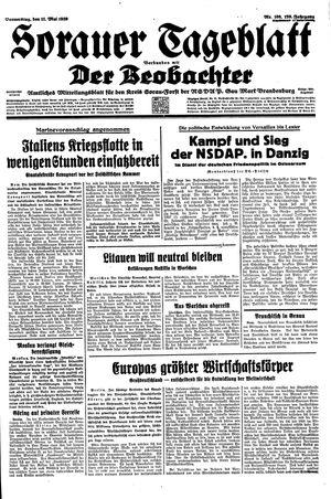 Sorauer Tageblatt vom 11.05.1939