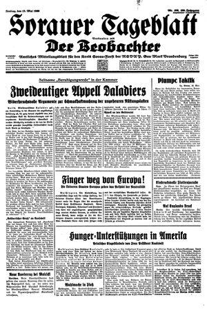 Sorauer Tageblatt vom 12.05.1939