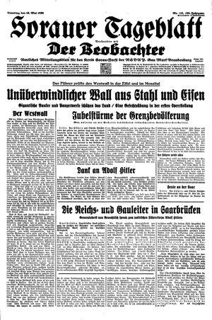 Sorauer Tageblatt vom 16.05.1939