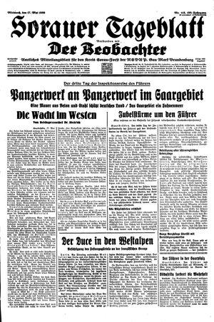 Sorauer Tageblatt vom 17.05.1939