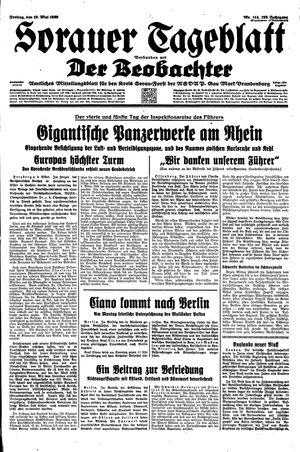 Sorauer Tageblatt vom 19.05.1939