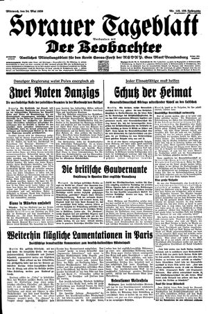 Sorauer Tageblatt on May 24, 1939