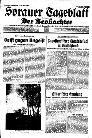 Sorauer Tageblatt on May 27, 1939