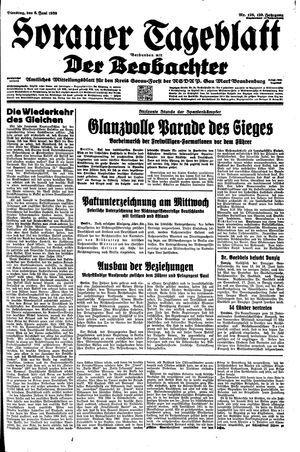 Sorauer Tageblatt vom 06.06.1939