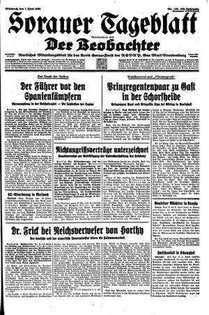 Sorauer Tageblatt vom 07.06.1939