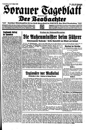Sorauer Tageblatt vom 08.06.1939