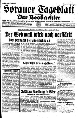 Sorauer Tageblatt vom 12.06.1939