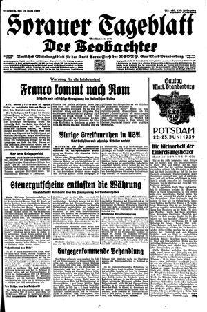 Sorauer Tageblatt vom 14.06.1939