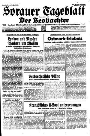 Sorauer Tageblatt vom 17.06.1939