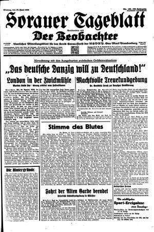 Sorauer Tageblatt vom 19.06.1939