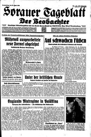 Sorauer Tageblatt vom 22.06.1939