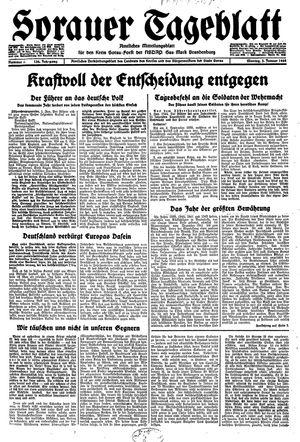 Sorauer Tageblatt vom 03.01.1944