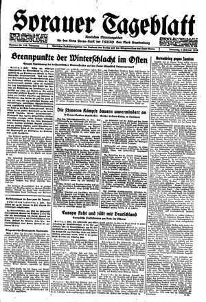 Sorauer Tageblatt vom 01.02.1944