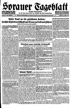 Sorauer Tageblatt vom 13.03.1944