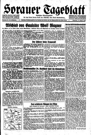 Sorauer Tageblatt vom 18.04.1944