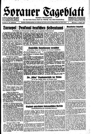 Sorauer Tageblatt vom 19.04.1944
