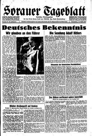 Sorauer Tageblatt vom 20.04.1944