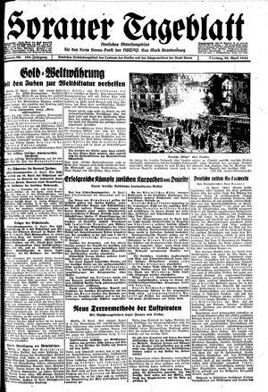 Sorauer Tageblatt vom 25.04.1944