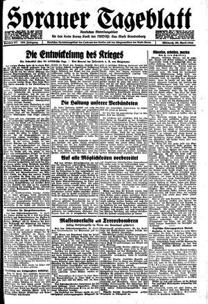 Sorauer Tageblatt vom 26.04.1944