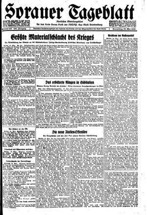 Sorauer Tageblatt vom 18.05.1944