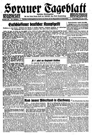 Sorauer Tageblatt vom 29.06.1944