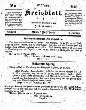 Sorauer Kreisblatt on Jan 8, 1845