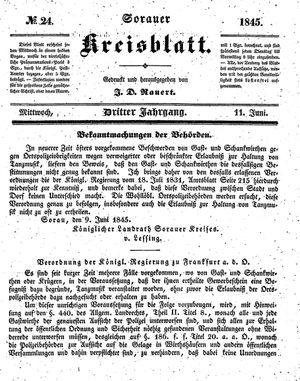 Sorauer Kreisblatt vom 11.06.1845