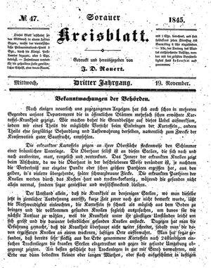 Sorauer Kreisblatt on Nov 19, 1845