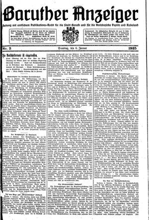 Baruther Anzeiger vom 06.01.1925