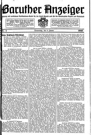 Baruther Anzeiger vom 08.01.1925