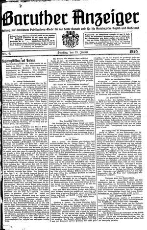 Baruther Anzeiger vom 13.01.1925