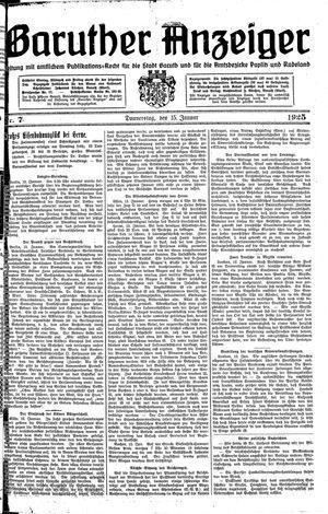 Baruther Anzeiger vom 15.01.1925
