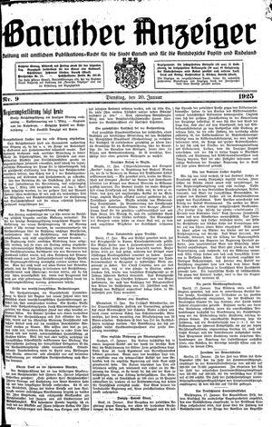 Baruther Anzeiger vom 20.01.1925