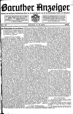 Baruther Anzeiger vom 22.01.1925