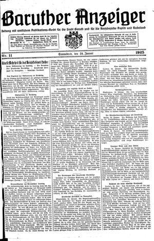 Baruther Anzeiger vom 24.01.1925