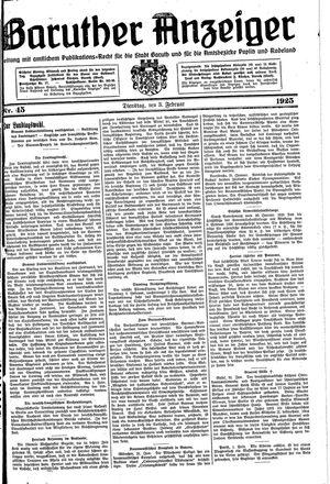 Baruther Anzeiger vom 03.02.1925