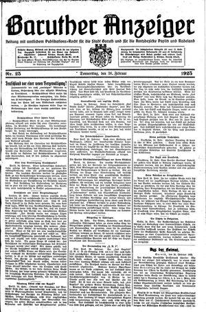 Baruther Anzeiger vom 26.02.1925