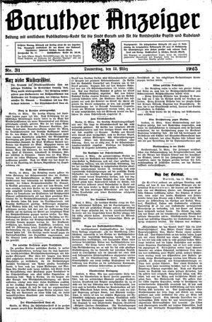 Baruther Anzeiger vom 12.03.1925