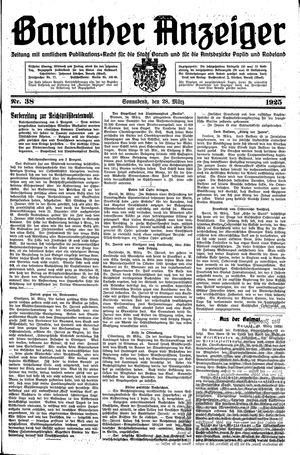 Baruther Anzeiger vom 28.03.1925