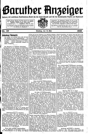 Baruther Anzeiger vom 12.05.1925