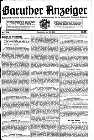 Baruther Anzeiger vom 16.05.1925