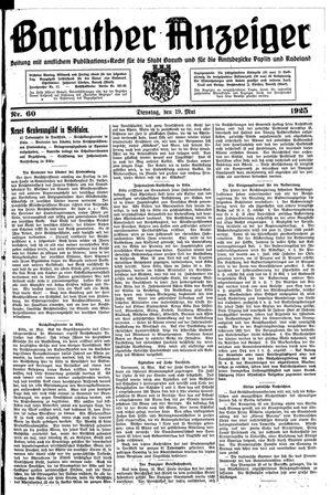 Baruther Anzeiger vom 19.05.1925