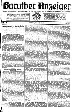 Baruther Anzeiger vom 05.01.1926