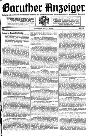 Baruther Anzeiger vom 09.01.1926