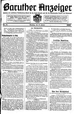 Baruther Anzeiger vom 19.01.1926