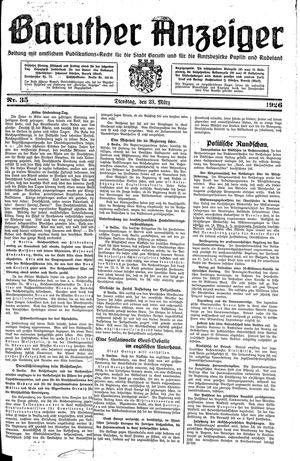 Baruther Anzeiger vom 23.03.1926