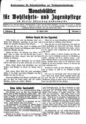Baruther Anzeiger vom 15.04.1926